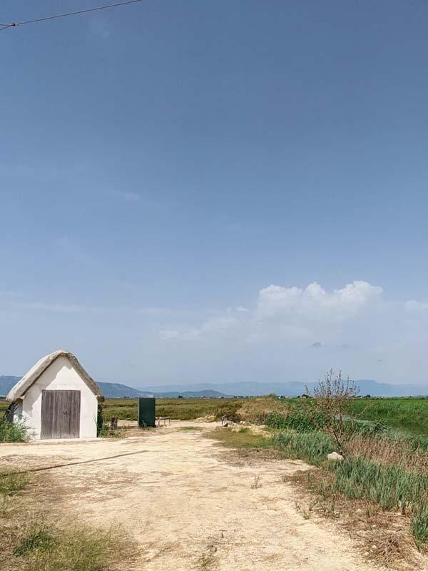 Cabaña en el Delta del Ebro
