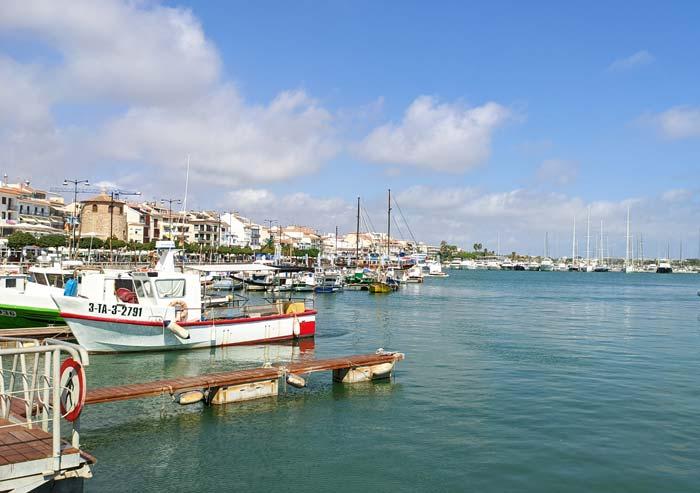 Paseo de Miramar y Puerto de Cambrils
