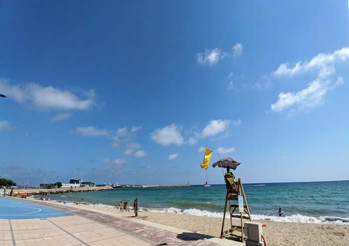 Playa de la Riera, en Cambrils