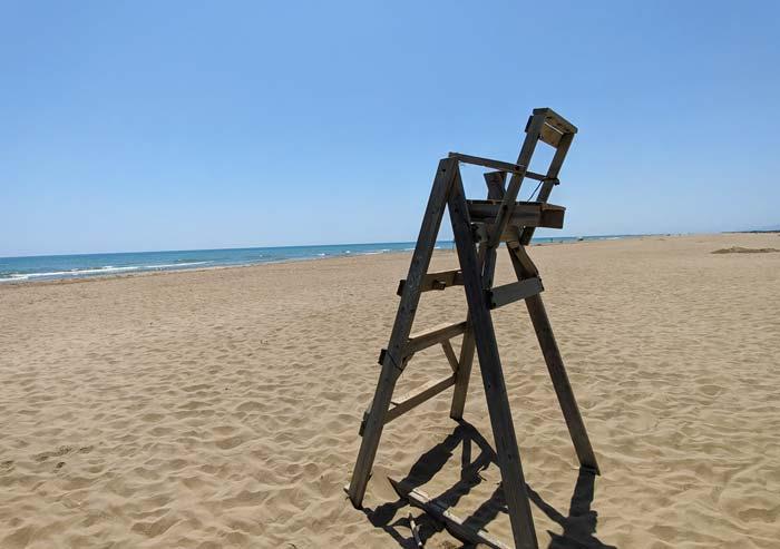 Playa los Eucaliptos, en el Delta del Ebro