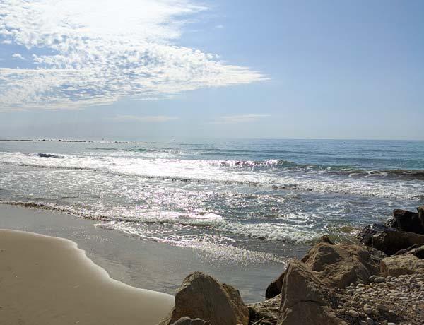 Amanecer en la playa de Torreblanca