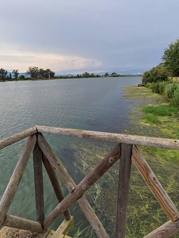 Vista del Ebro desde Sant Jaume D'Enveja