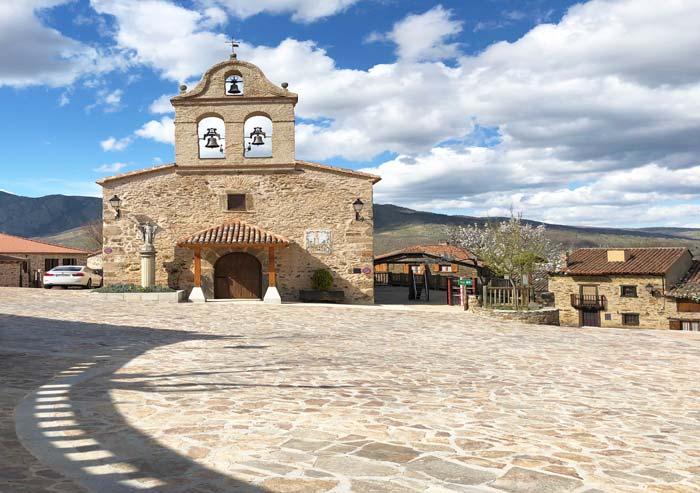 Plaza de San Miguel, en La Hiruela
