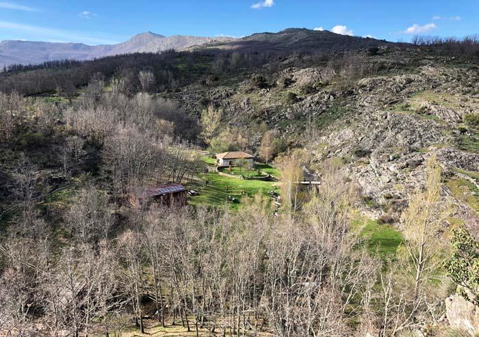 Vista panorámica del Molino harinero de La Hiruela