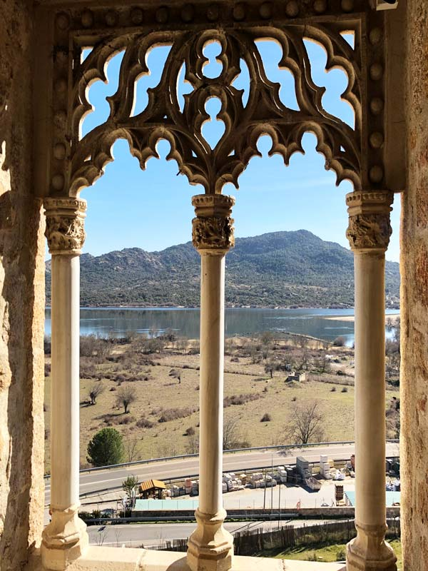 Vista del Embalse desde el Castill Nuevo de Manzanares el Real