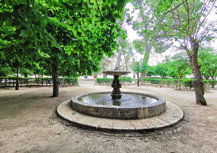 Fuentes y plazas en Nuevo Baztán