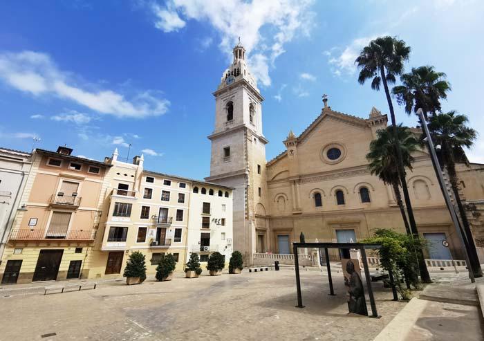 Plaza de la Seu en Xátiva