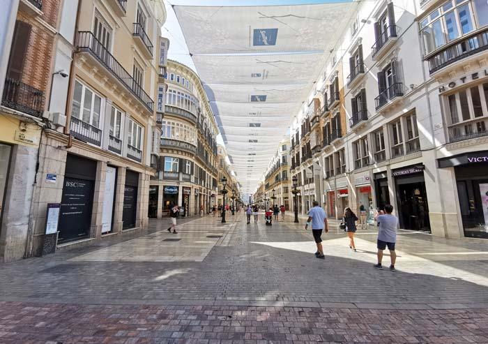 Calle Marqués de Larios en Málaga