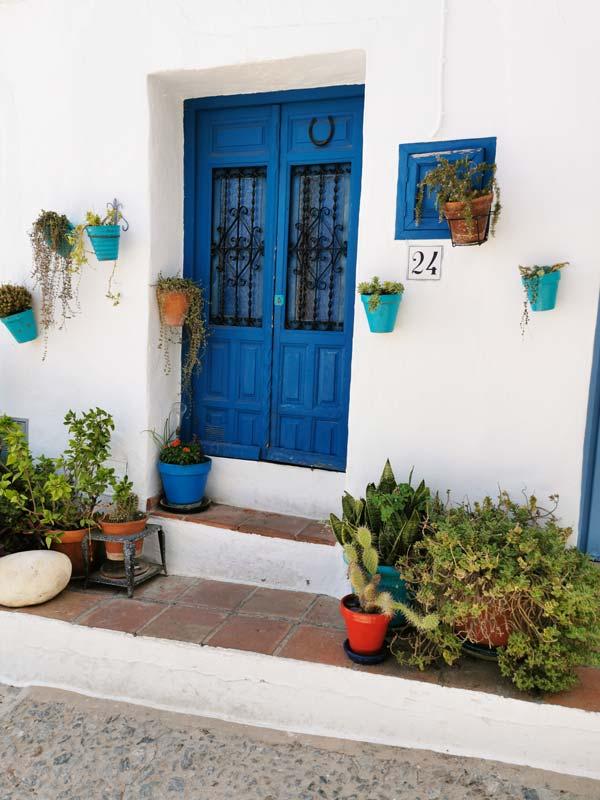 Fachadas de casas en Andalucía