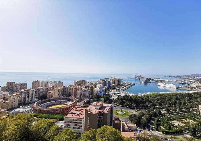 Vistas de Málaga desde Gibralfaro